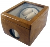 2+1 Walnut Dual Watch Winder Box AC/DC & Battery Operated
